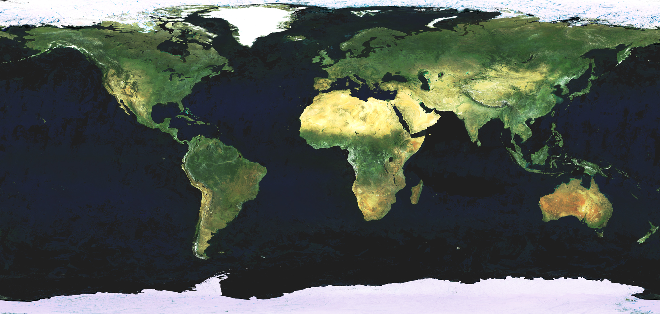 Satellite Map Of Earth