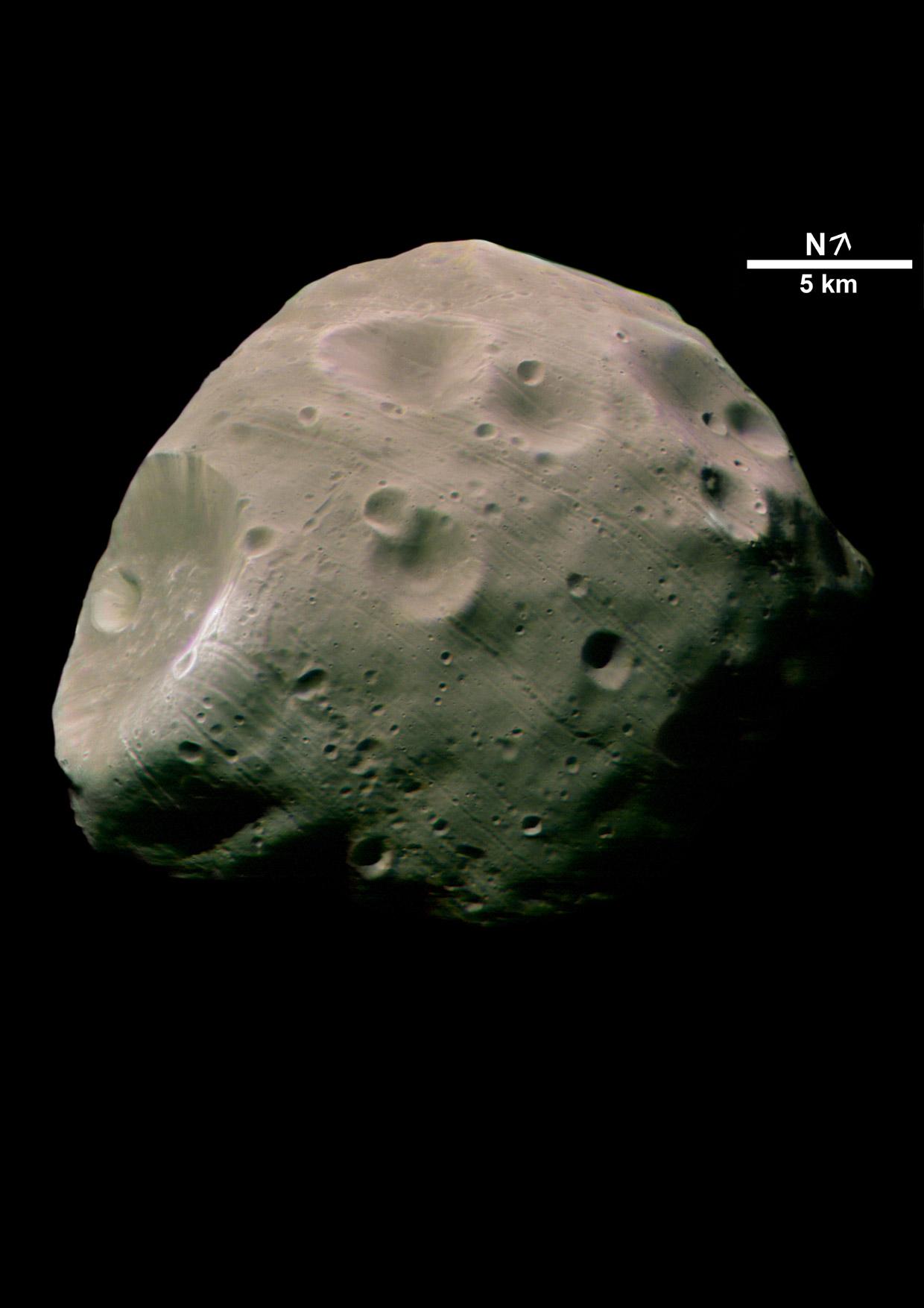 Mars Express - Phobos im Jahre 2004, Quelle: ESA/DLR/FU Berlin