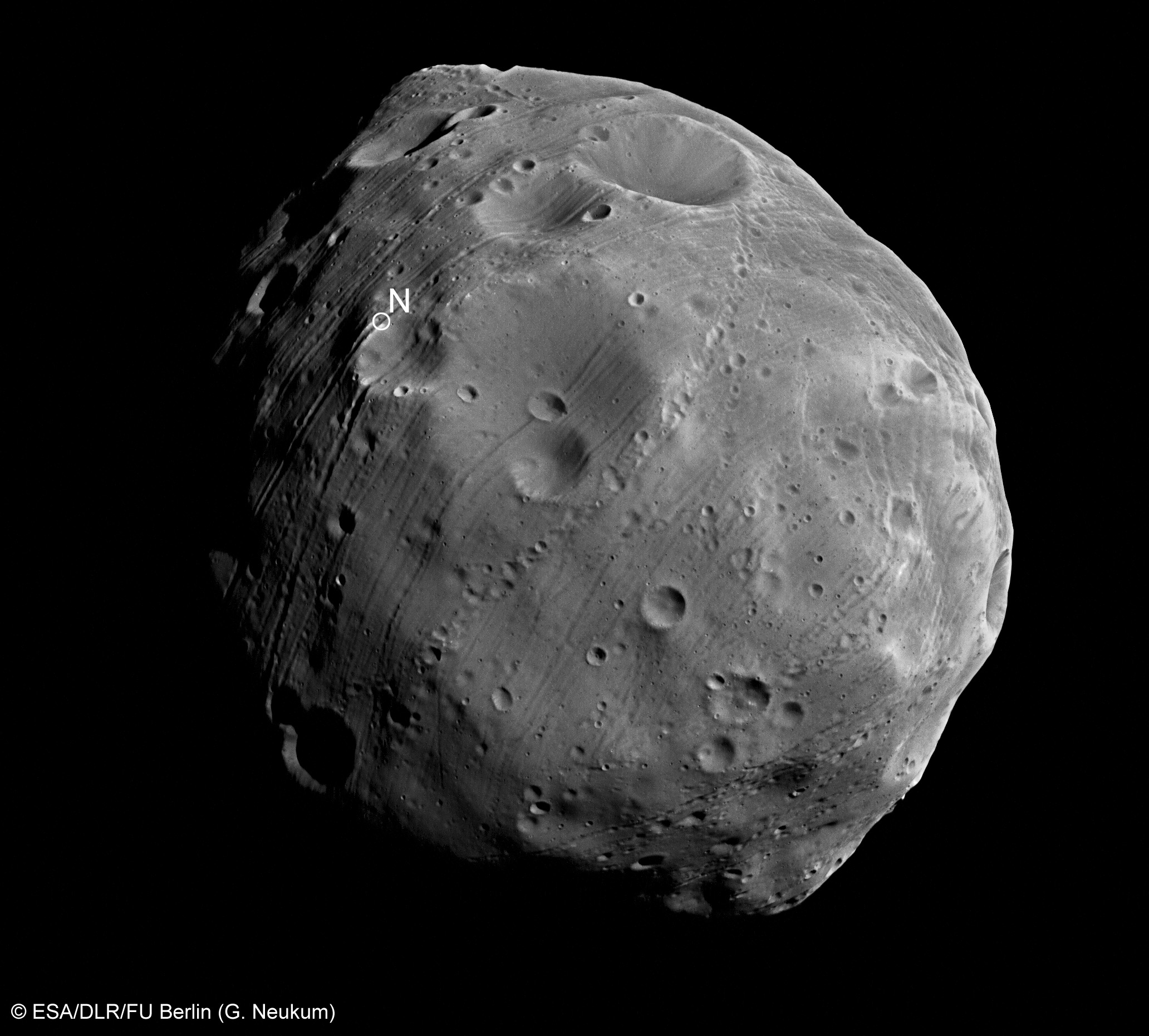 Close-up of Phobos