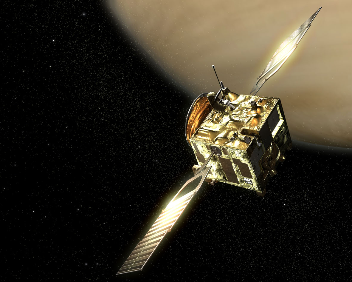 Venus Express will make unprecedented studies of the largely unkown phenomena taking place in the Venusian atmosphere. Credits: ESA - AOES Medialab
